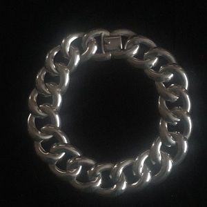 Vintage Modernist Sterling Silver 160g Necklace